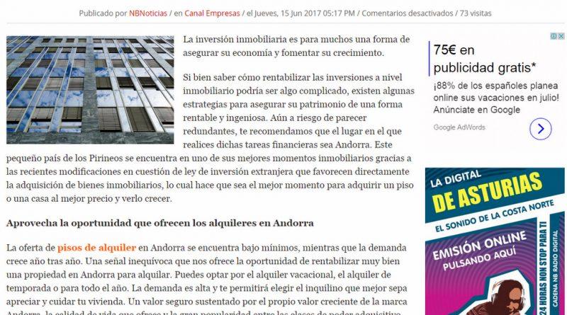 COMO RENTABILIZAR TUS INVERSIONES EN ANDORRA APROVECHA LA OPORTUNIDAD QUE OFRECEN LOS ALQUILERES DE PISOS EN ANDORRA
