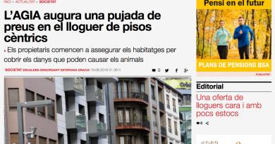 """El president del Col·legi de Gestors Immobiliaris d'Andorra (AGIA), Jordi Galobardas, nega que s'exigeixin quantitats desproporcionades per renovar els contractes de lloguer. D'aquesta manera, el representant de l'organisme va respondre ahir a les afirmacions que va fer dijous el Raonador del Ciutadà, Marc Vila, que va manifestar que havia rebut queixes de llogaters que denunciaven abusos per part de propietaris, i que podien arribar a exigir fins a un 60% respecte al que estaven pagant fins ara. En declaracions al Diari, Galobardas nega que el mercat dels arrendaments estigui marcat per l'especulació. """"Pensem que això no té cap veracitat i ho podem negar rotundament"""", afirma el màxim dirigent de l'AGIA, que creu que la quarantena de denúncies que ha rebut el Raonador del Ciutadà per apujades del lloguer de manera desproporcionada s'han de situar """"en perspectiva"""". Malgrat que admet que la quantitat és """"important"""", també demana tenir en consideració que enguany """"s'han renovat milers de contractes"""". """"Si es produïssin aquests augments, estaríem parlant d'una superbombolla i seria molt preocupant"""", avisa. En tot cas, Galobardas veu bé que Vila hagi decidit obrir una investigació d'ofici per portar a les institucions un informe detallat sobre la problemàtica per accedir a l'habitatge. """"Entenc que el Raonador està preocupat si rep 40 denúncies d'augments importants de lloguers, i trobo molt normal que vulgui investigar què passa"""", expressa el president de l'AGIA, que al mateix temps demana no crear """"alarmisme"""". Assegura que des de l'associació vetllen perquè les condicions de renovació dels contractes s'adeqüin a la realitat. Si bé des de l'AGIA tenen constància de """"molt pocs casos"""" de possibles abusos, Galobardas admet que té la """"percepció"""" que el cost dels lloguers """"van pujant"""". En tot cas, no s'atreveix a precisar una quantitat en espera de publicar l'informe que està elaborant el Col·legi d'immobiliaris sobre la situació real dels arrendaments."""
